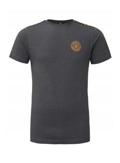 Concept R (Kids) Brand Tape Shirt Grey / Orange