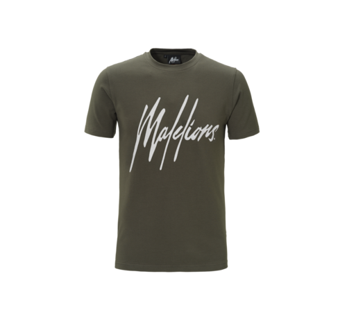 Malelions T-Shirt Army/White