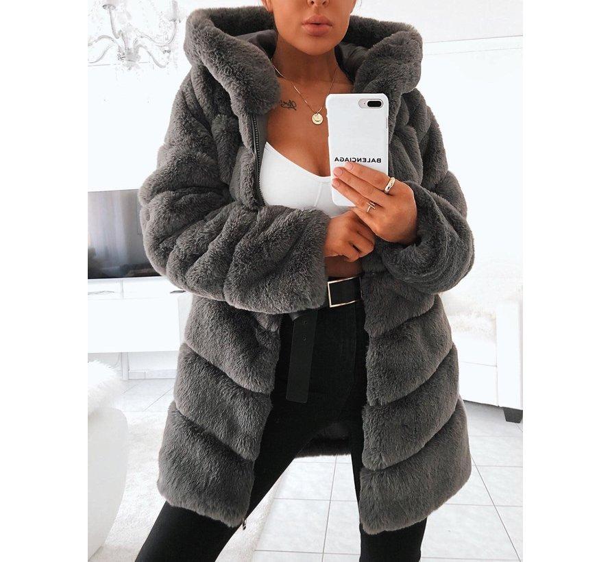 Fur Coat Grey