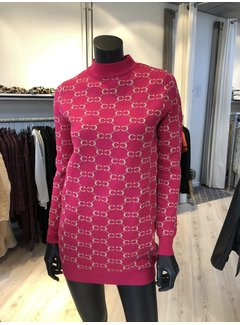 New Design Sweater Fuchsia