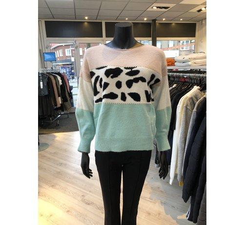 New Design Sweater Print Mint