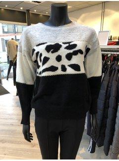 New Design Sweater Print Black