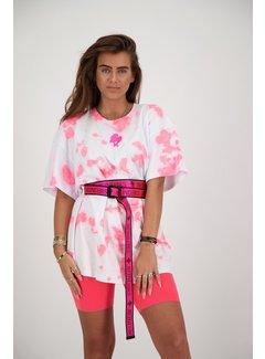Reinders T-Shirt Reinders Tie Dye White/Pink Neon