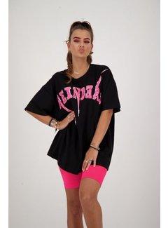 Reinders Bolt Tee  black / neon Pink