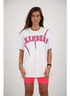 Reinders Bolt Tee white/pink Neon