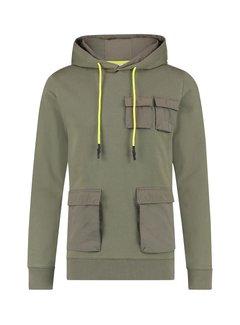 Purewhite Hoodie Army Green