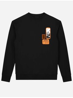 Sustain Patches Oversized Sweater Black