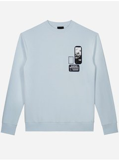 Sustain Patches Oversized Sweater Ice Blue