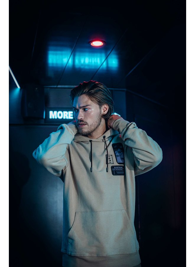 Patches Regular Hoodie Camel