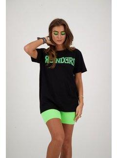 Reinders Wording t-shirt black/neon green