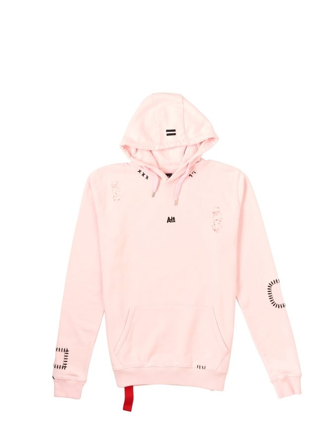 Damaged Hoodie Pink