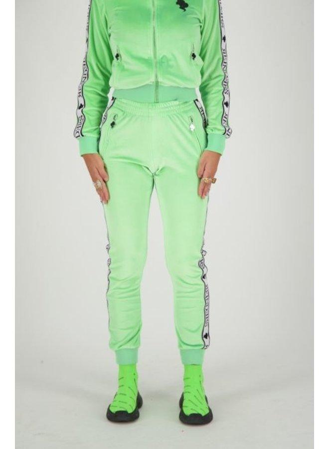 Tracking pants velvet neon green
