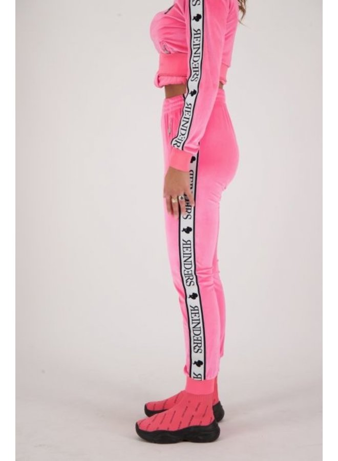 Tracking pants velvet neon pink