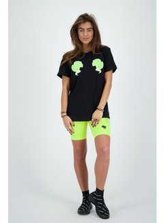 Reinders Headlogo Diamonds Shirt True Black / Neon Green