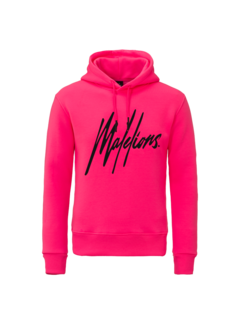 Malelions Signature hoodie neon pink