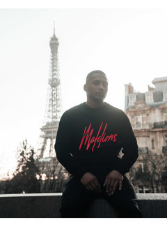Malelions crewneck signature black/red