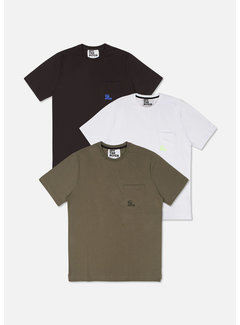 Off The Pitch Corporate Tee Black/White/Olive