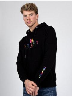 Xplct Rainbow Hoodie Black