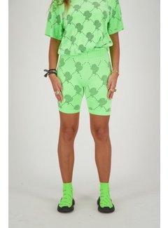 Reinders Biker Short Velvet Neon Green