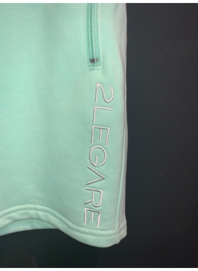 Logo Embroidery Short mint white