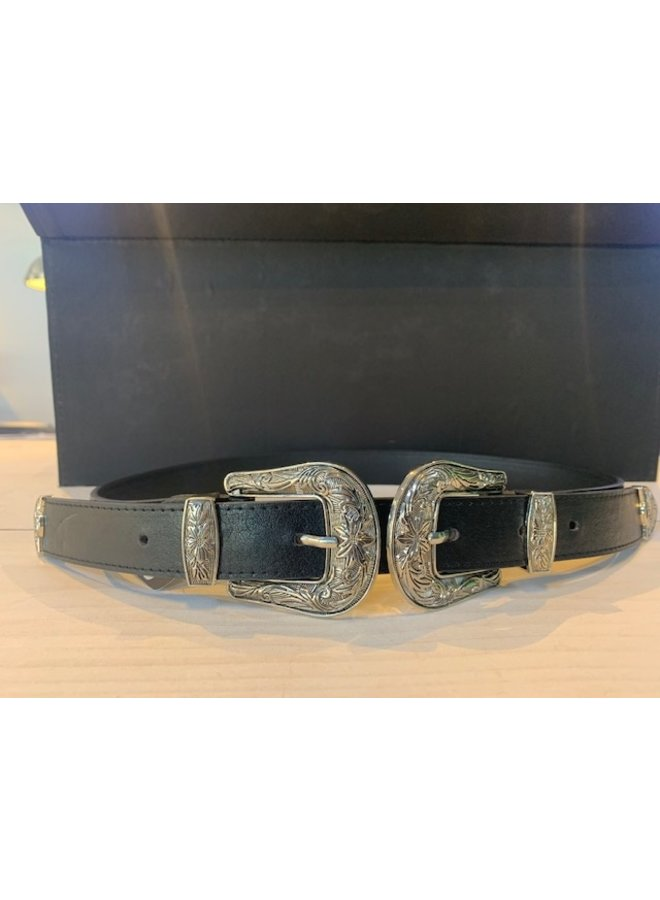 Dames Buckle Belt Zwart