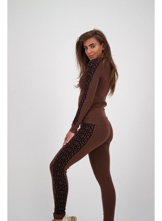 Sweater Round Neck 3D Dark Brown