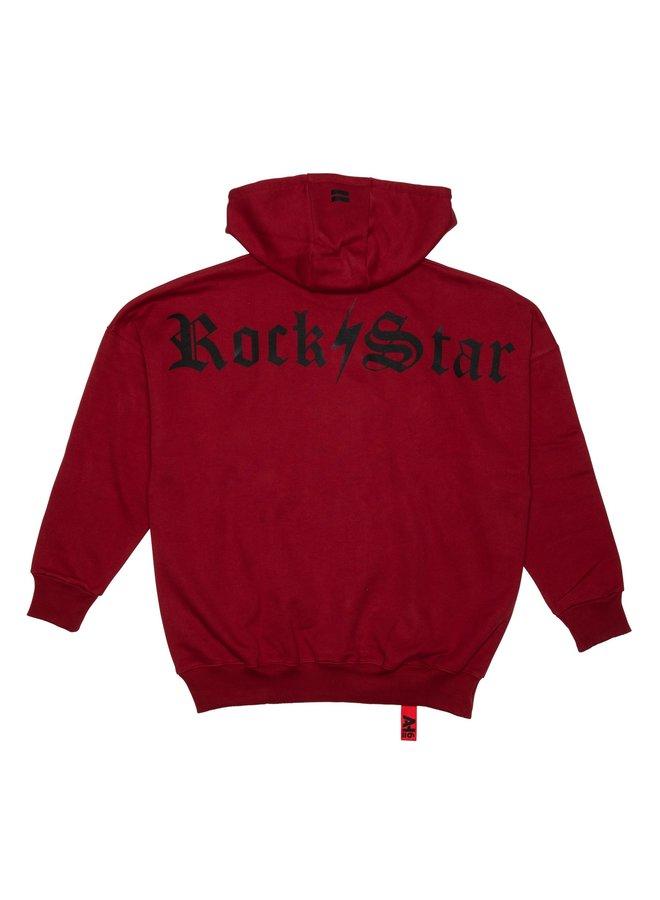 Lightning Bolt Rockstar Hood Dark Red