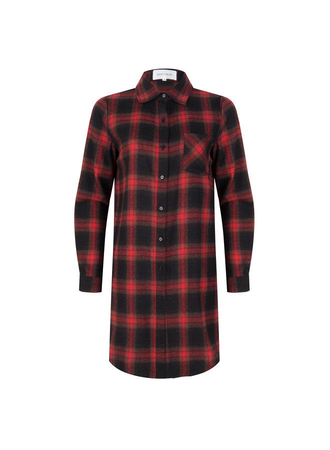 Dress Check Print Red