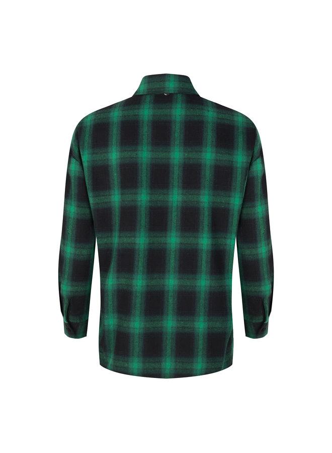 Blouse Check Print green