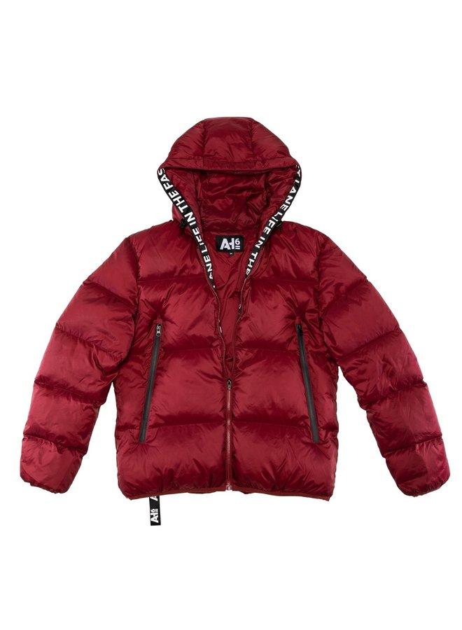 Down Jacket Dark Red