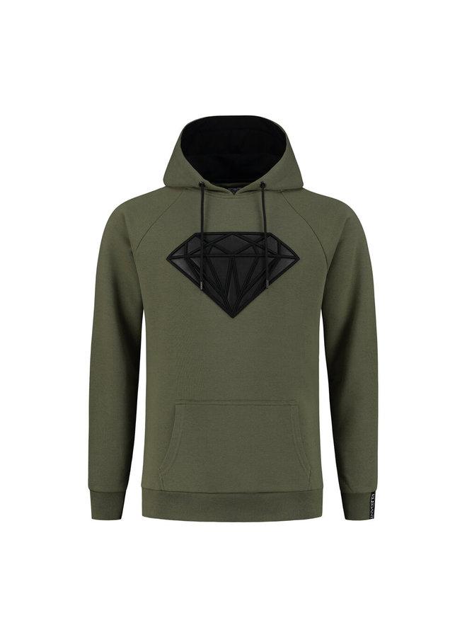 Superman Hoodie Army Green