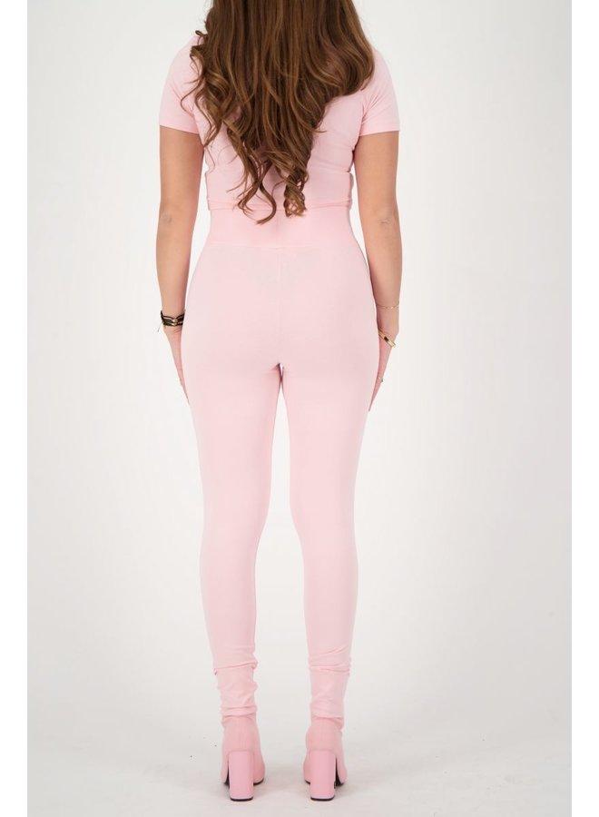 Headlogo Square Legging Baby Pink