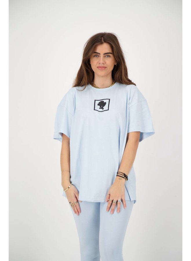 HEADLOGO SQUARE T-SHIRT SHORT SLEEVE BLUE