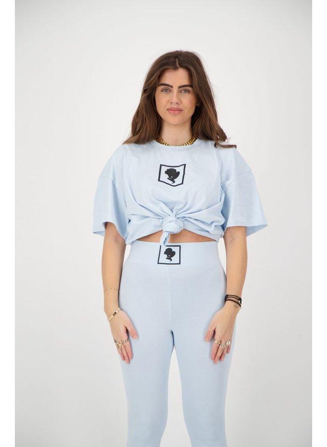 HEADLOGO SQUARE T-SHIRT SHORT SLEEVE BLUE