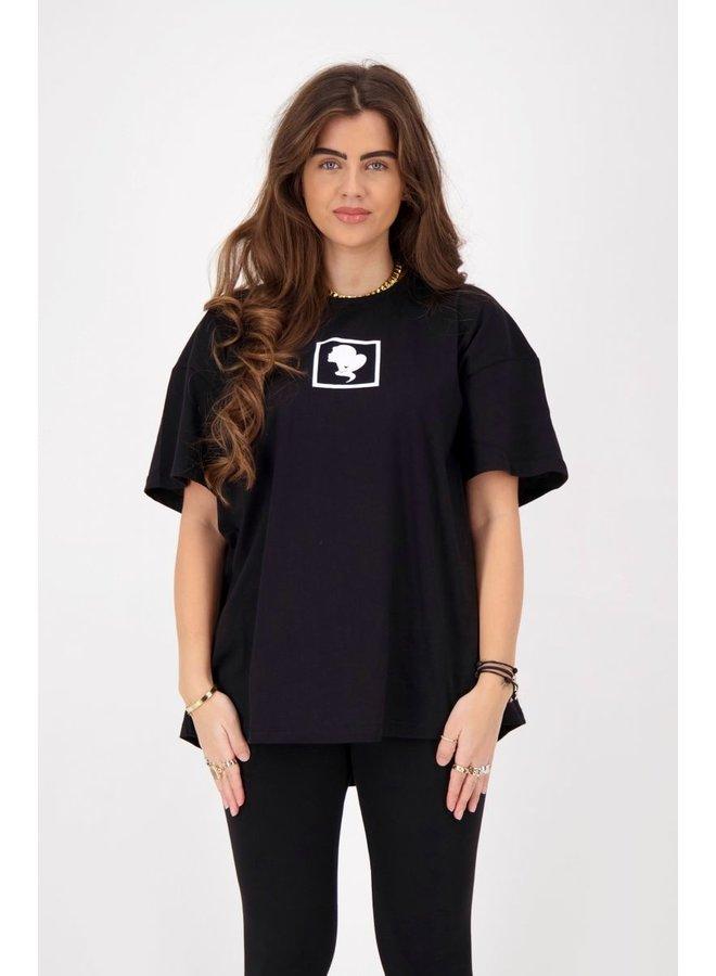 HEADLOGO SQUARE T-SHIRT SHORT SLEEVE BLACK