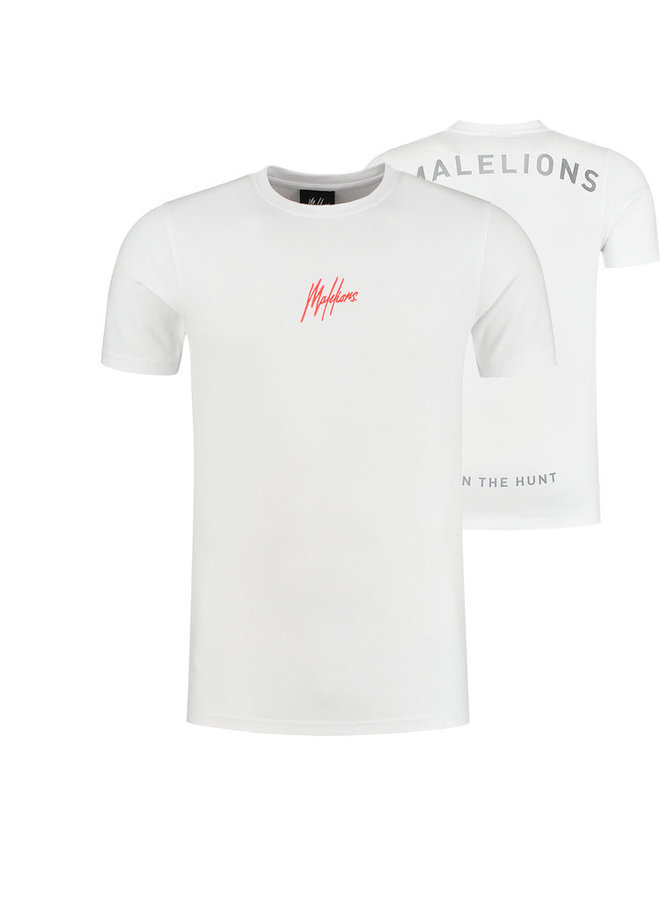 Gyzo T-shirt White/Neon Red
