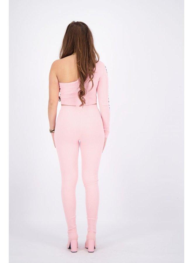 Laila One Shoulder Baby Pink