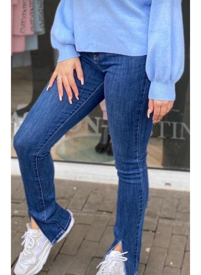 Split Jeans Blue