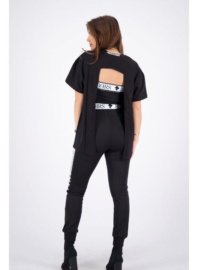 T-Shirt Open Back True Black
