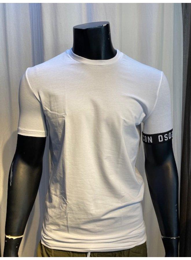 DSQ2 ICON T-shirt White/Black