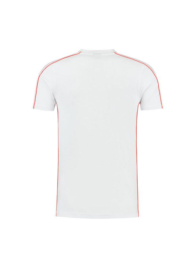Thies T-Shirt Salmon/White