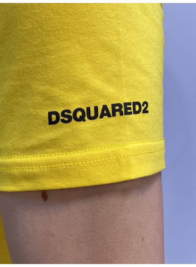 T-shirt Basic Yellow/Black