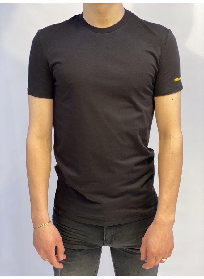 T-shirt Basic Black/Yellow