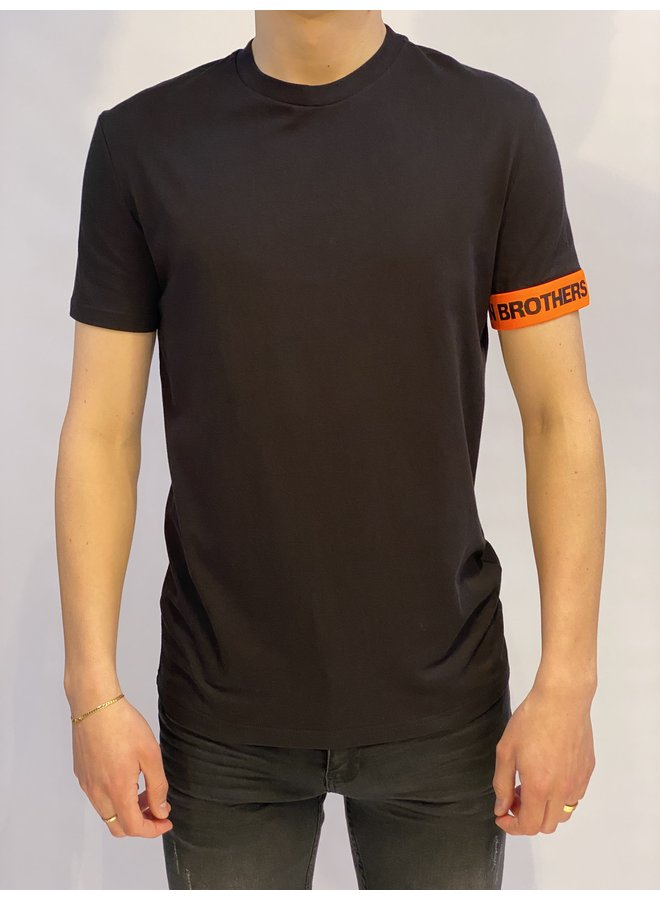 CANADIAN BROTHERS T-Shirt Black/Orange