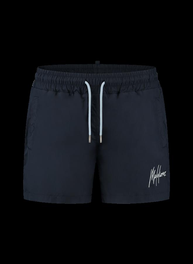 Malelions Francisco Swimshort - Navy/Light Blue
