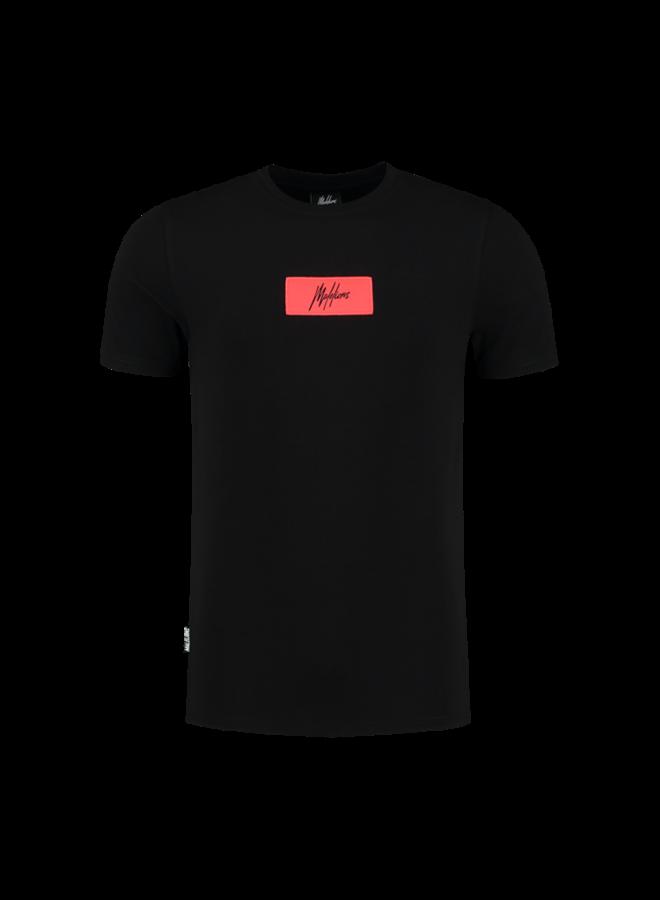 Jerra T-Shirt Black/Neon Red