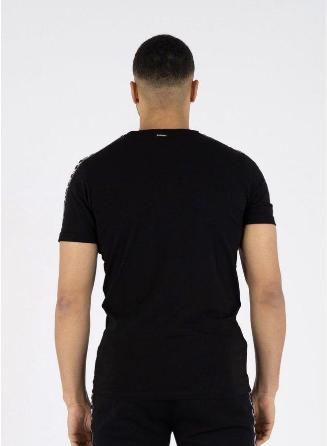 General T-shirt Black/Light Blue