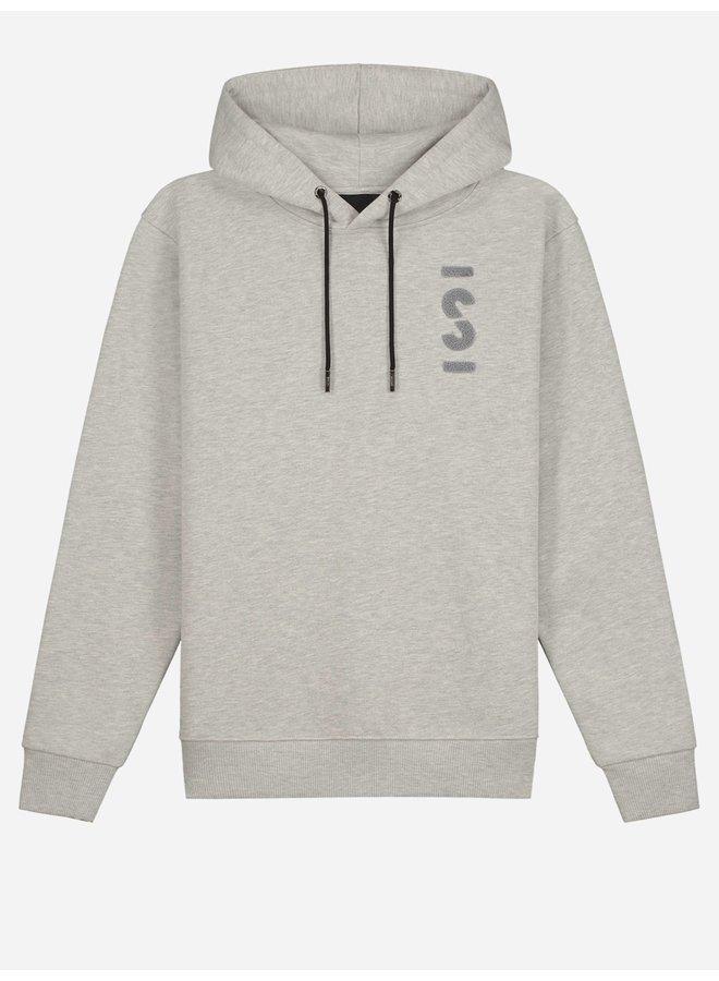 Logo Loose Fit Hoodie Grey