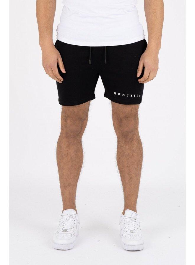 Basic Striped Short Black
