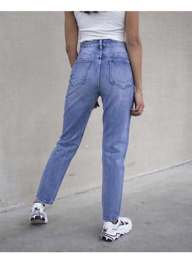 Milah Mom Jeans Blue